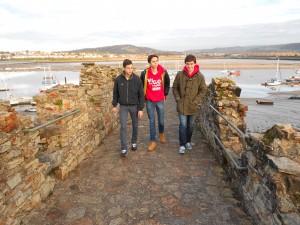 Raúl, Daniel y Iago durante el tour-compressed