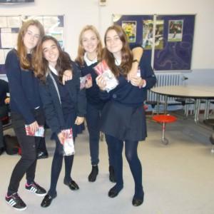 El equipo ganador: Irene, Marta, Aldara y Carla