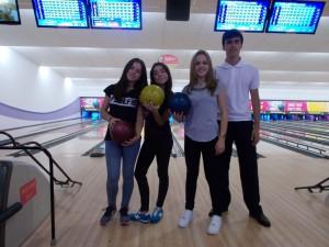 Paula, Marta, Aldara y Rodrigo