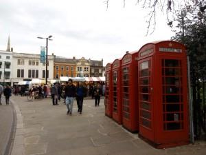 Mercadillo tradicional en Cambridge