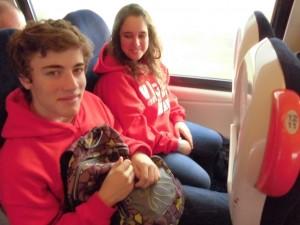 Martin e Elisa no tren