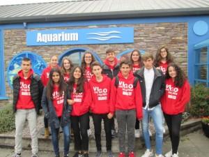 Grupo en el acuario