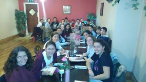 Cena en Bella Café zona chicas