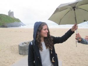 Raquel y el paraguas