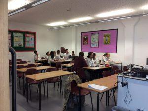 Primer día de clase de inglés
