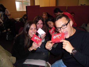 Ganadores del pub quiz_Cristina Pardo, Cristina Pallas, Claudia y Aaron