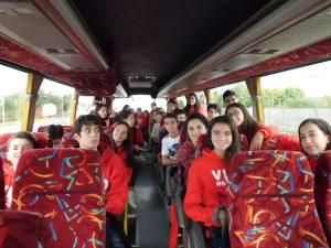 En el autobús de camino a Castledermot.