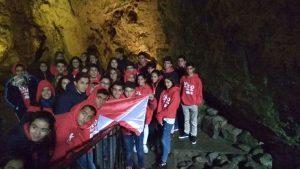 Vigo's crew inside the cave