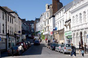 High street: la calle comercial de Bideford